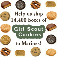 Help us ship cookies to the Marines!