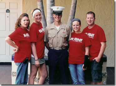 Marine and Family at Graduation