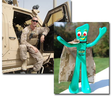 Marine Mom Sends Son Semper Gumby Doll