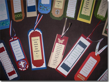 Bookmarks received for our wounded